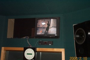 Cynthia Dale in the Dead Room, as seen from a monitor in the Control Room
